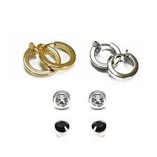 earrings for unpierced ears buy chandrika pearls clip on magnetic 4 earrings combo for non