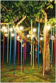 backyards cozy hanging lights for outside party decorations 17