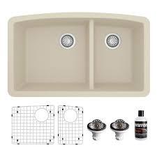 lowes 60 inch kitchen sink base cabinet karran karran undermount quartz composite 32 in 60 40