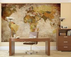 Vintage Map Wallpaper amazon com lb prepasted wall mural foto wall decor world map