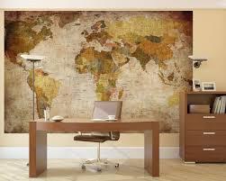 Vintage Map Wallpaper amazon com lb prepasted wall mural foto wall decor world map