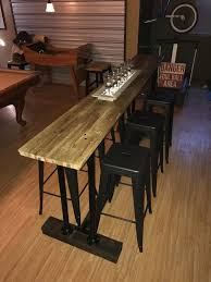 customer made mcphee mcginnity bar top reclaimed semi trailer butcher block flooring made by gerald o