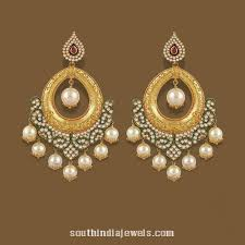 chandbali earrings gold chandbali earrings from tbz gold and indian jewelry