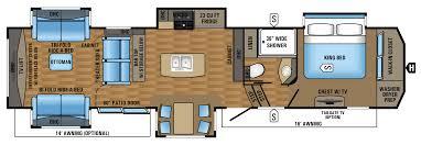 2017 38refs floorplan trailer living pinterest