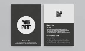 free circle flyer template download now face media group