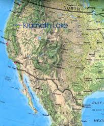 Map Of Mexico West Coast by West Coast Upper Klamath Lake