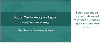 social media analytics report template twitter account analysis