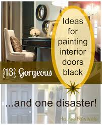 house revivals painting interior doors black