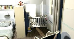 dans chambre lit bebe chambre parents chambre grise avec berceau blanc