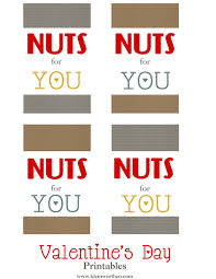 nuts for you free printable valentines kleinworth co