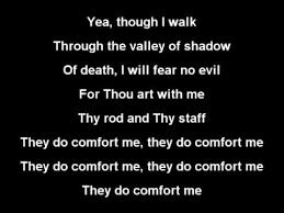 Comfort Me Lyrics The Lord Is My Shepherd Gospel With Lyrics Youtube