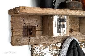 interchangeable fall farm reclaimed wood coat hook shelffunky junk