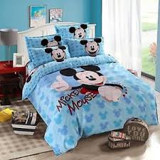 factory cheap light blue mickey mouse cotton blend duvet cover