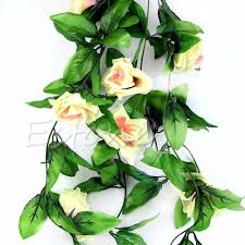 ivy home decor stylish rose flower fake artificial ivy vine hanging garland