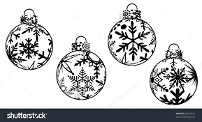 christmas clipart black and white ornaments free christmas
