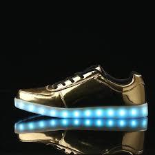 gold light up sneakers led shoe lights