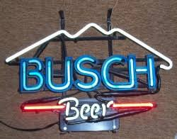 busch light neon sign my beer sign collection