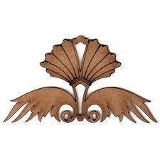 deco nouveau style ornament 12 mdf wood shape
