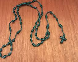 knotted rosary knotted rosary etsy