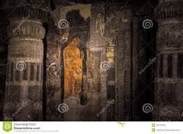 mural painting of buddha in ajanta stock photo image 48013819 royalty free stock photo