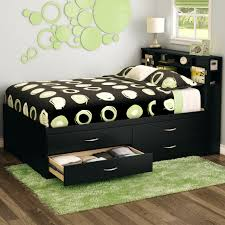 calssic platform storage bed with headboard 2 drawer storage solid