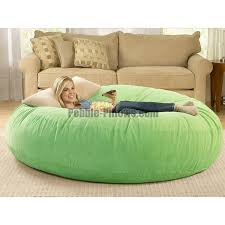 beanbag cushion bed relaxing sitting sofa and ottomans green
