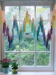 cute window treatment made with craft sticks home decor design