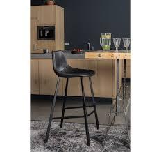 chaise de bar chaise ou tabouret de bar assise cuir noir