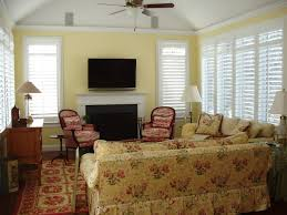 black rock family room shutters window treatments hingham