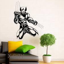 online get cheap room design aliexpress com alibaba group wolverine hero decal vinyl stickers comics superhero interior home teen room design wall art murals bedroom