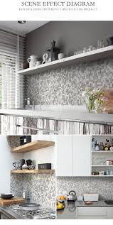 gray melt glass mosaic wall tiles kitchen backsplash bath