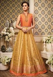 gold color bridesmaid dresses golden wedding dresses india gold color indowestern anarkali