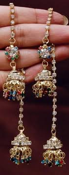 jhumka earrings online shopping jhumkas earrings multi colored stones kashmiri jhumka online