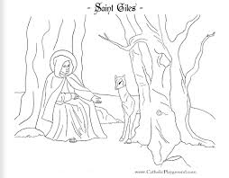 Saint Giles Coloring Page September 1st Catholic Playground Coloring Pages For September