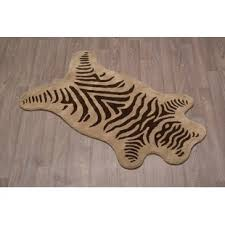 Brown Zebra Area Rug Zebra Print Wool Rug Wayfair