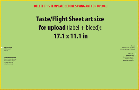 tasting flight sheet design template grogtag