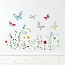 garden u0026 butterfly wall decal the land of nod