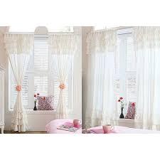 White Ruffle Curtain Panels White Ruffle Curtain