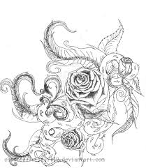 rose drawings with vines drawings of flowers leaves and vines