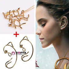 jual ear cuff 2017 beauty and the beast tree pendant necklace