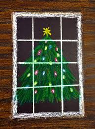 symmetry christmas tree art project for kids christmas tree art