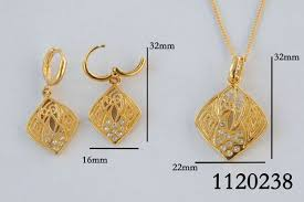 saudi arabia gold earrings buy vp jewels 18k gold plated abstract jewelry set of necklace and