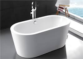 resin freestanding soaking bathtubs for small space solid surface