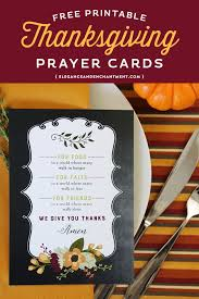 free printable prayer cards for thanksgiving dinner or to use as