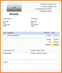 7 sample invoice template doc invoice template