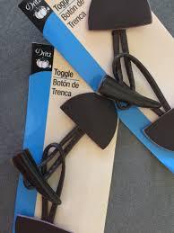 dritz toggle closure dark brown leather decorative closure for
