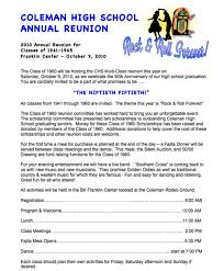 high school reunion invites other sles
