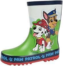 paw patrol wellington boots tie rubber rain wellies size uk 5