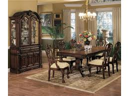 Dining Room Set With China Cabinet by Crown Mark Brussels Buffet And Hutch With Two Glass Doors Royal