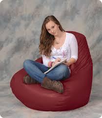 large bean bag chair in maroon bean bag city
